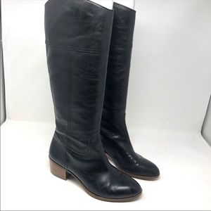Louise Et Cieblack Leather pull on tall boots